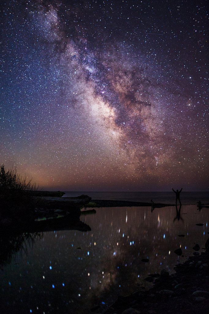 The Galaxy reflected over Shipman Creek